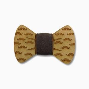 gravata para cachorro em mdf moustache